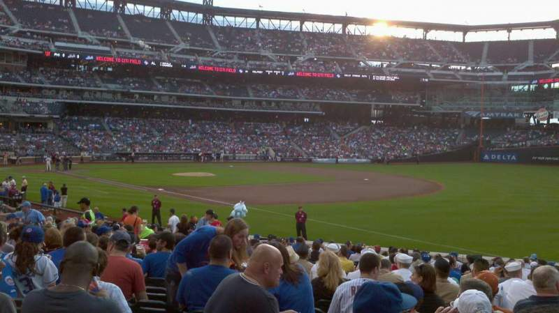 Seating view for Citi Field Section 109 Row 20 Seat 14