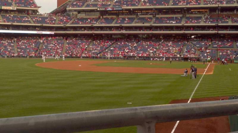 Seating view for Citizens Bank Park Section 140 Row 7 Seat 6
