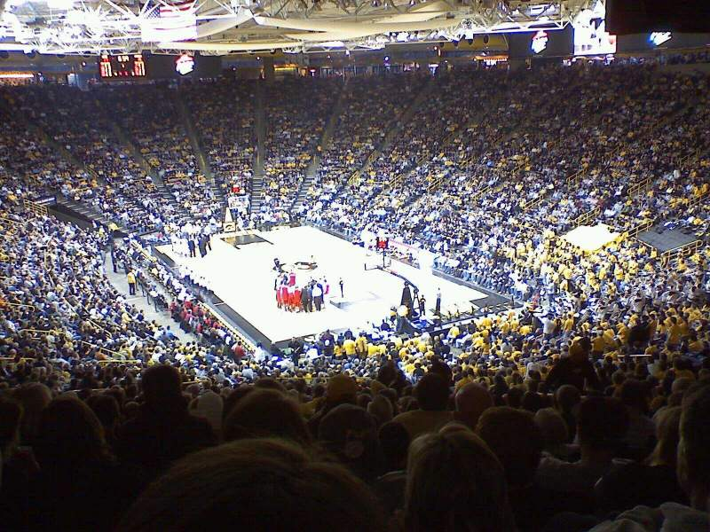 Seating view for Carver-Hawkeye Arena Section D