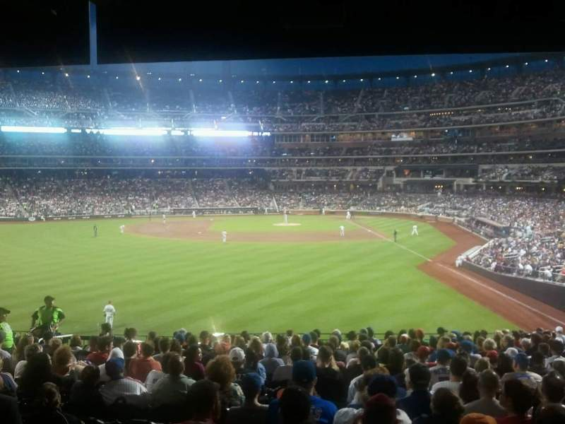 Seating view for Citi Field Section 134 Row 16 Seat 8