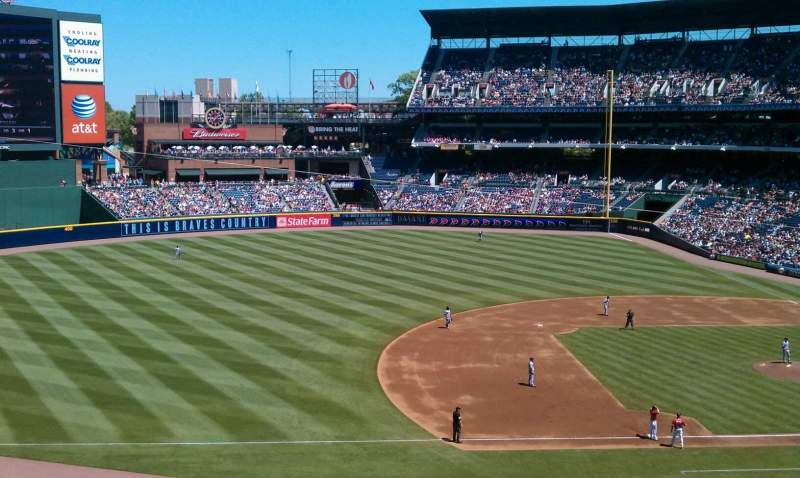 Seating view for Turner Field Section golden moon casino
