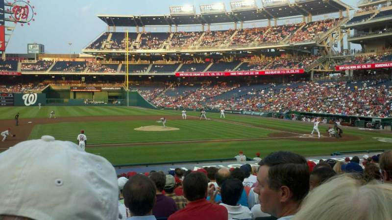 Seating view for Nationals Park Section 116 Row W Seat 13