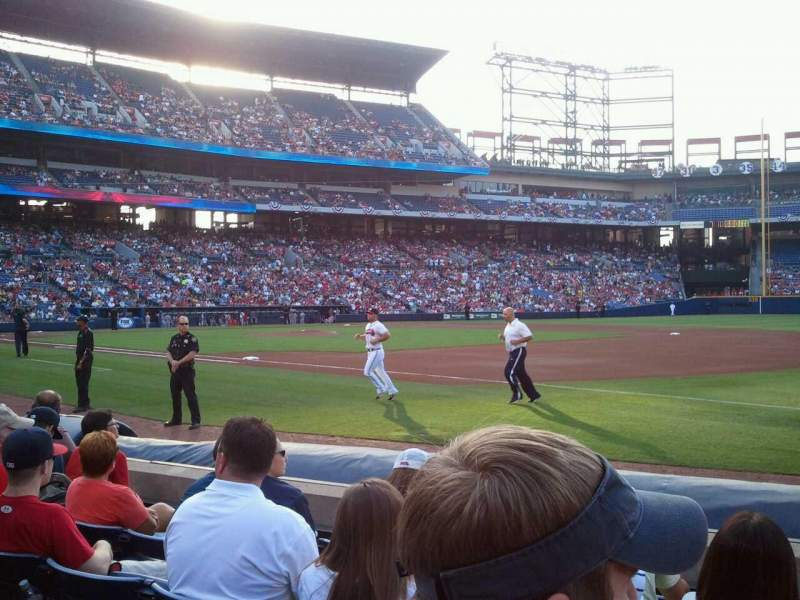 Seating view for Turner Field Section 117 Row 6 Seat 102