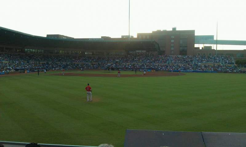 Seating view for Durham Bulls Athletic Park Section 130 Row d Seat 6