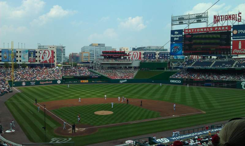 Seating view for Nationals Park Section 216 Row G Seat 16