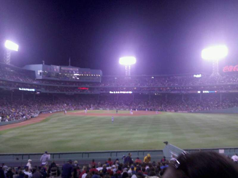 Seating view for Fenway Park Section Bleacher 42 Row 23 Seat 18
