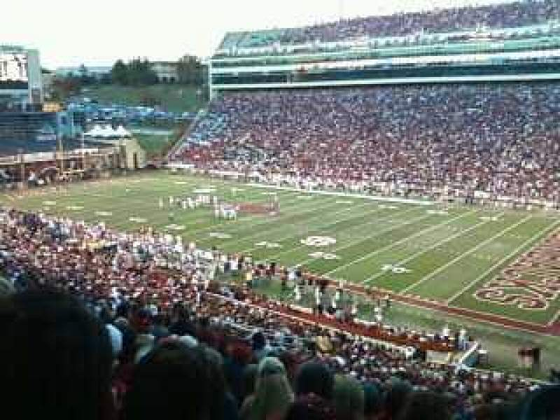 Seating view for Razorback Stadium Section 101 Row 49 Seat 28