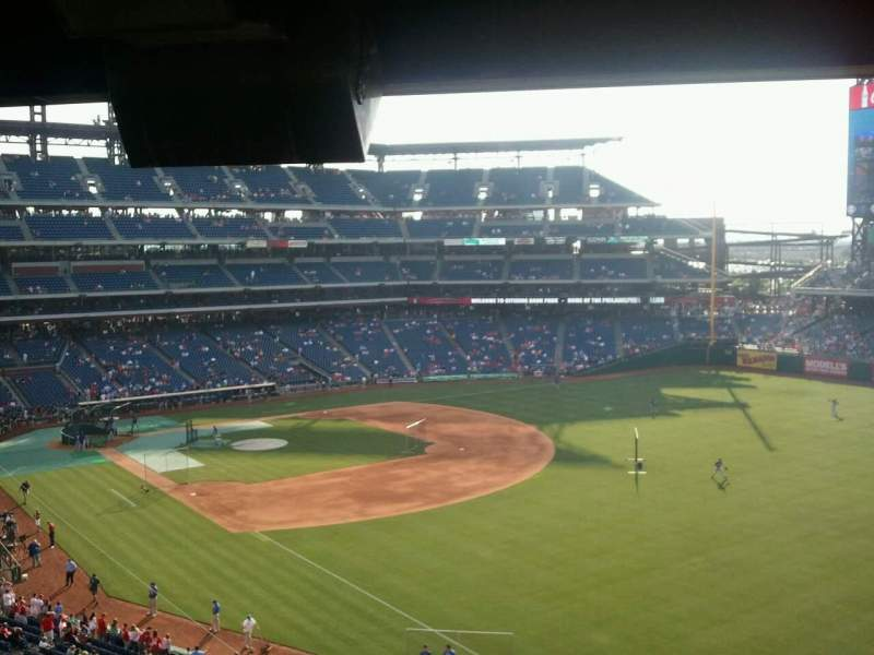 Seating view for Citizens Bank Park Section 208 Row 12 Seat 3