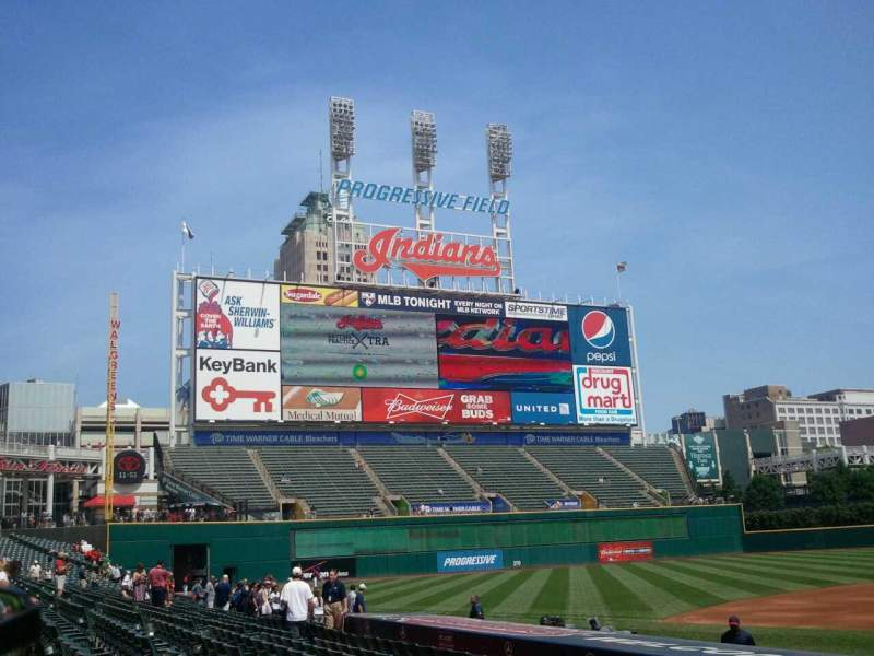 Seating view for Progressive Field Section 160 Row N Seat 7