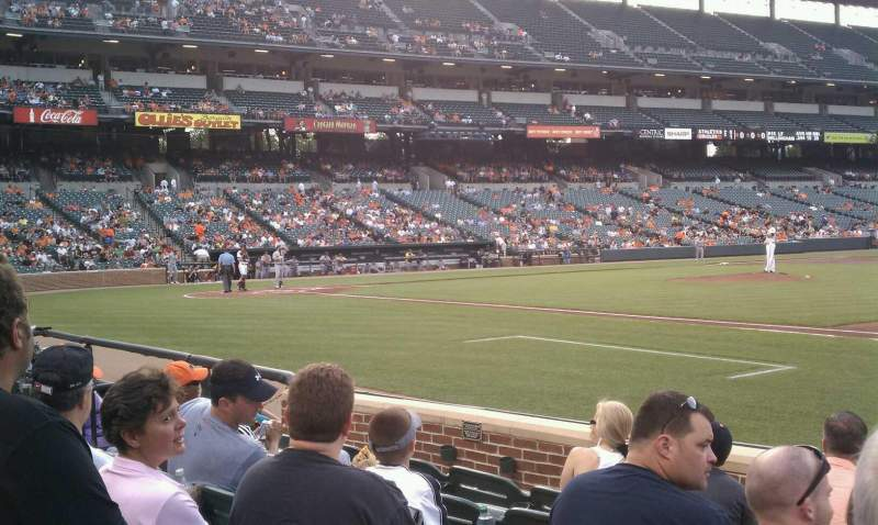 Seating view for Oriole Park at Camden Yards Section 18 Row 6 Seat 1