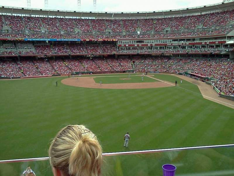 Seating view for Great American Ball Park Section 403 Row B Seat 4