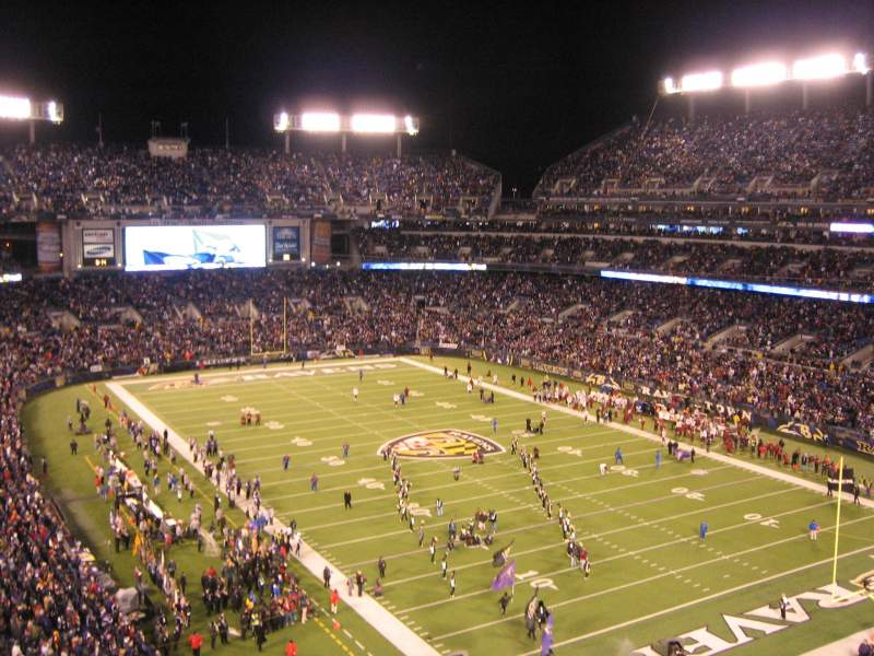 Seating view for M&T Bank Stadium Section 518 Row 2 Seat 3