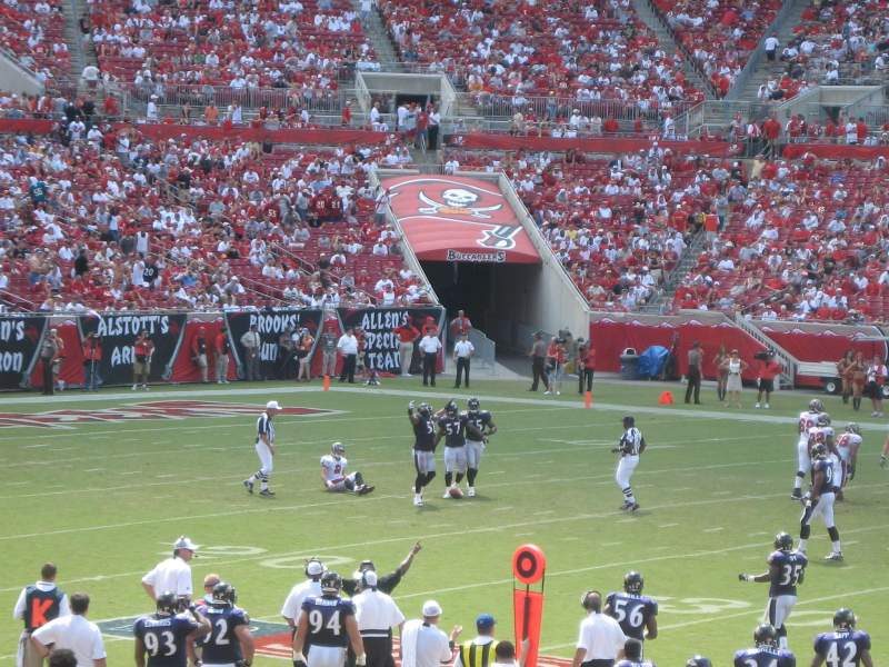 Seating view for Raymond James Stadium Section 136 Row U Seat 16