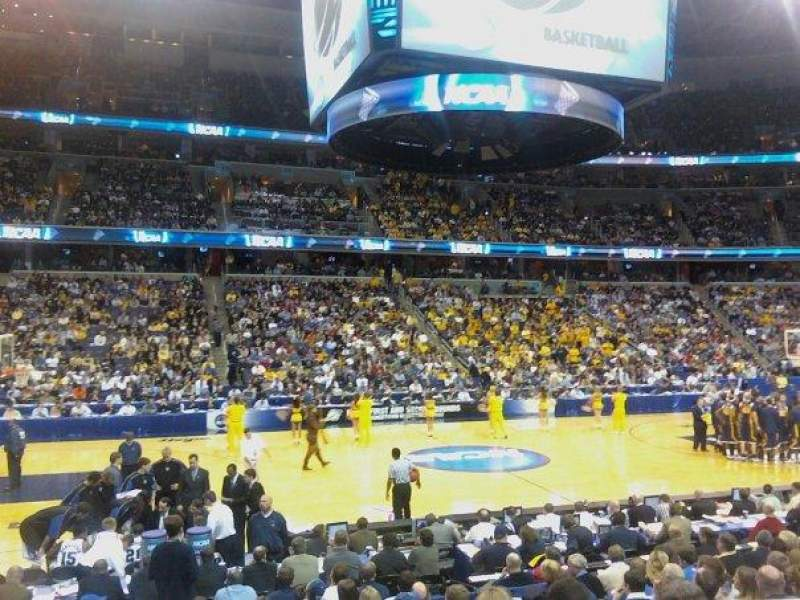 Seating view for Verizon Center Section 121 Row M Seat 20
