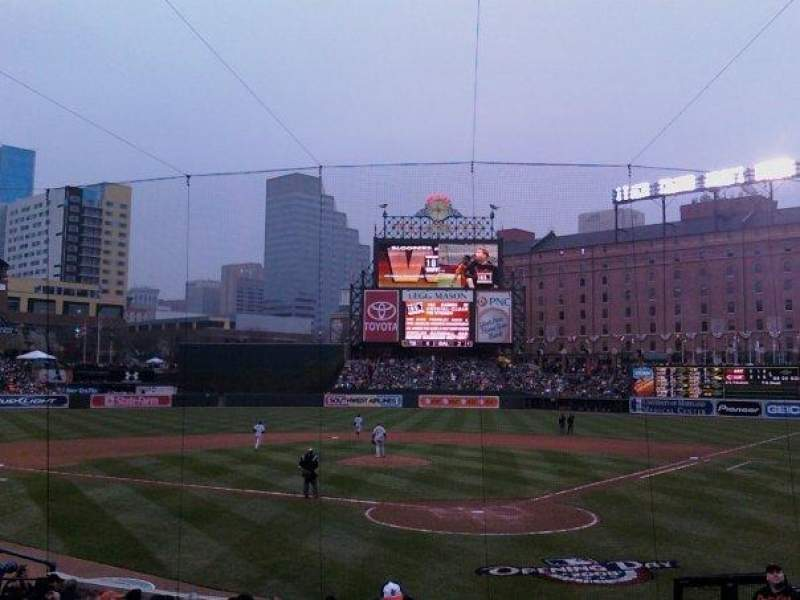 Seating view for Oriole Park at Camden Yards Section 40 Row MM Seat 4