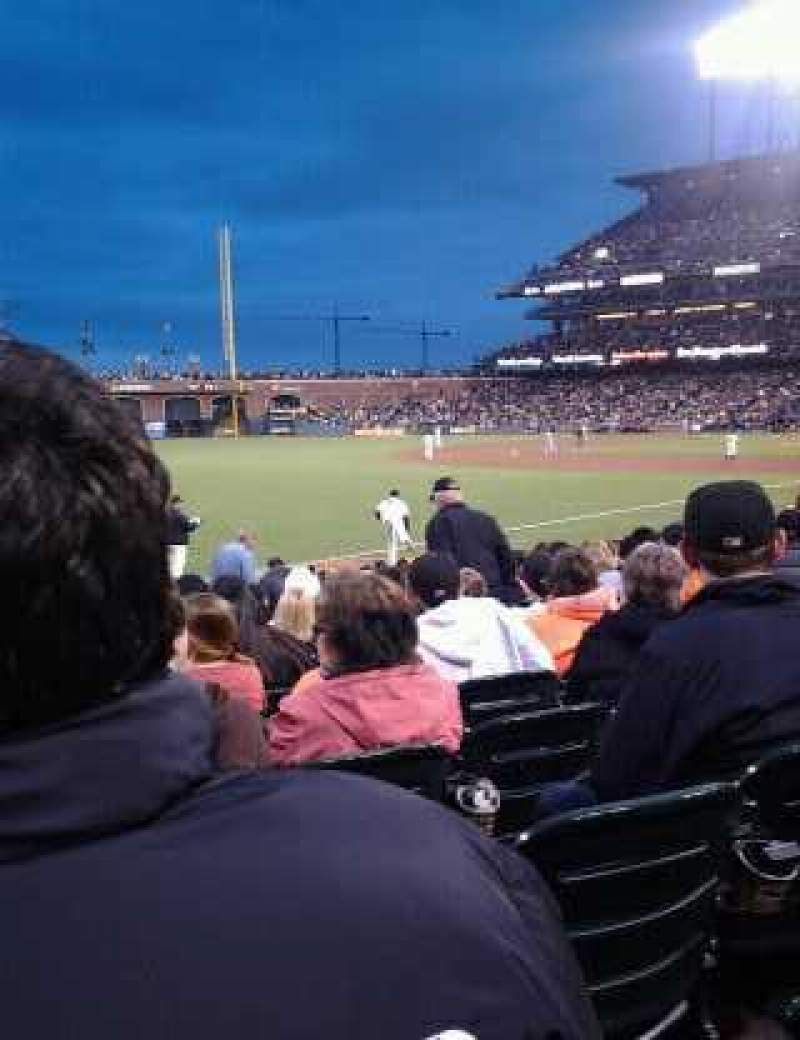 Seating view for Oracle Park Section 130 Row 16 Seat 6