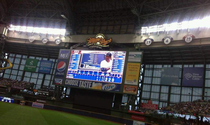 Seating view for Miller Park Section 110 Row 16 Seat 12