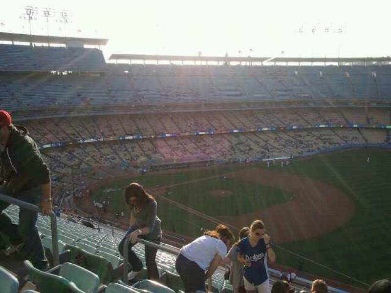 Seating view for Dodger Stadium Section 36RS Row t Seat 6