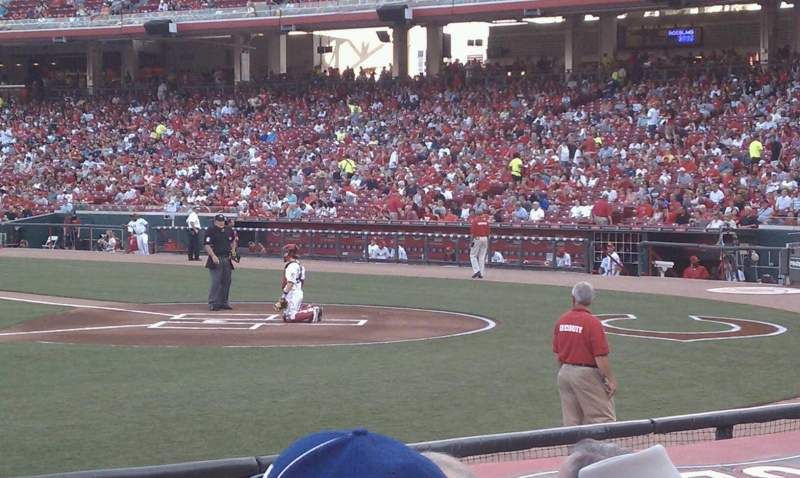 Seating view for Great American Ball Park Section 116 Row H Seat 10