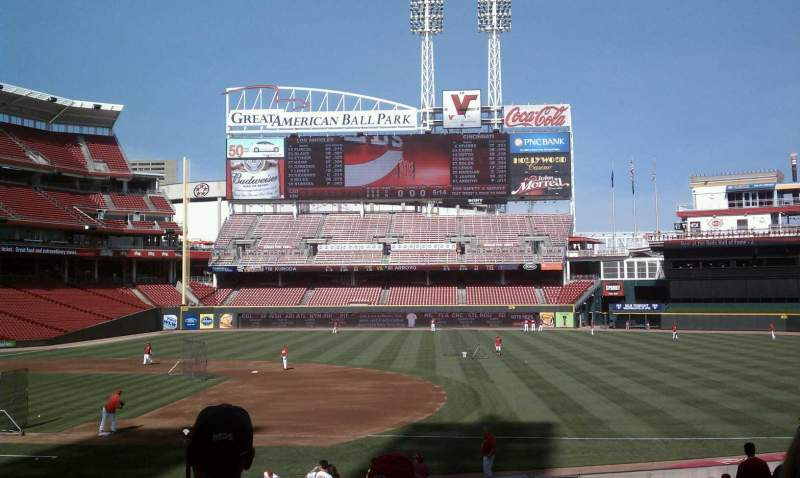 Seating view for Great American Ball Park Section 131 Row AA Seat 5