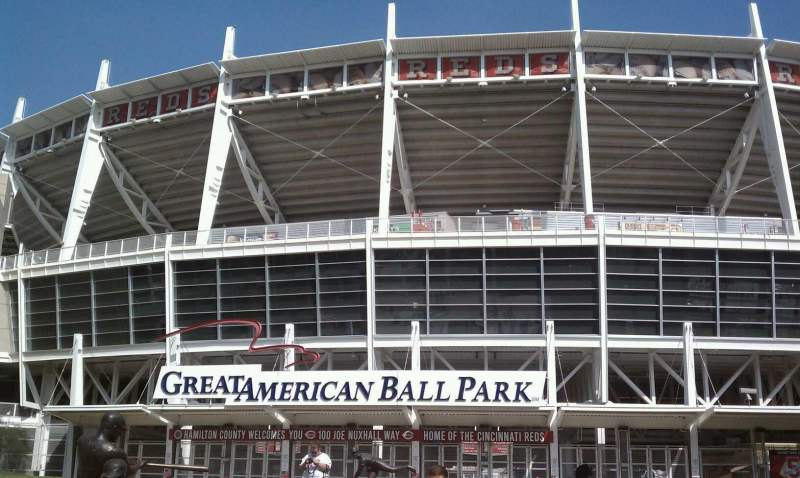 Seating view for Great American Ball Park Section Gate A