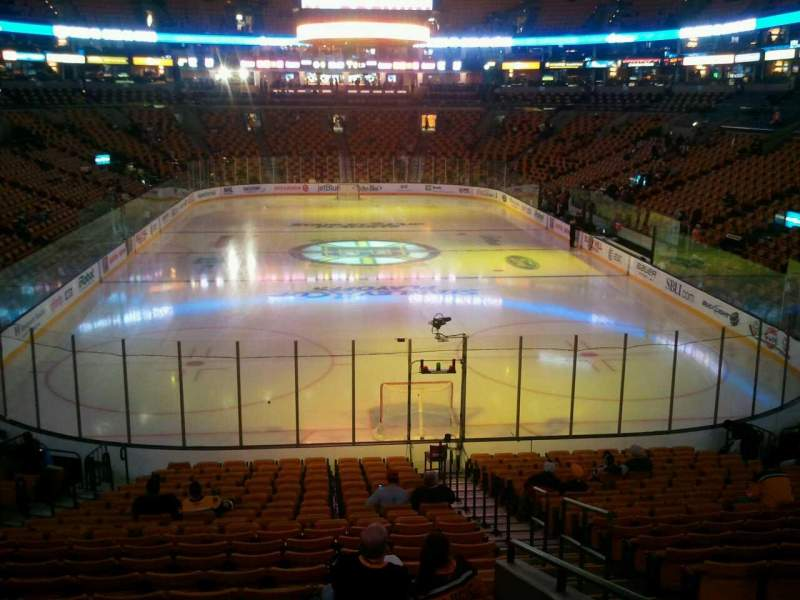 Seating view for TD Garden Section Loge 18 Row 20 Seat 6