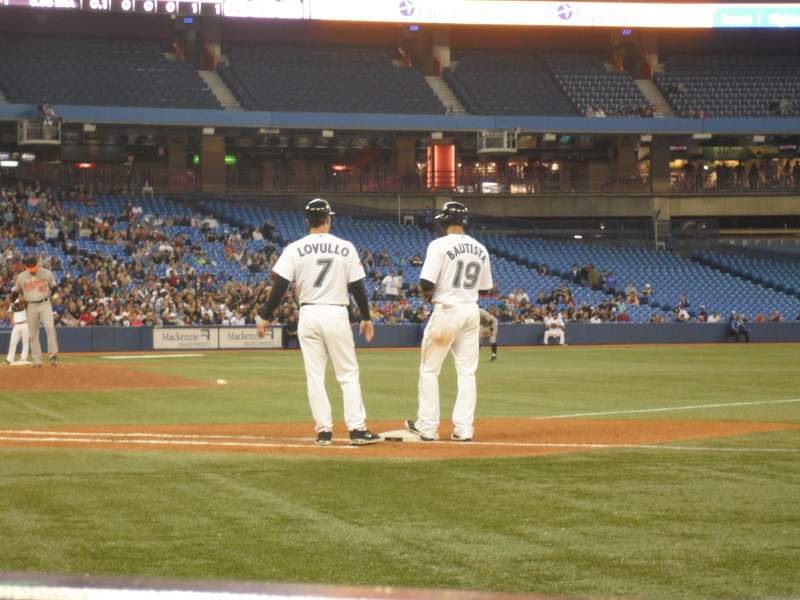 Seating view for Rogers Centre Section 115L Row AA Seat 104