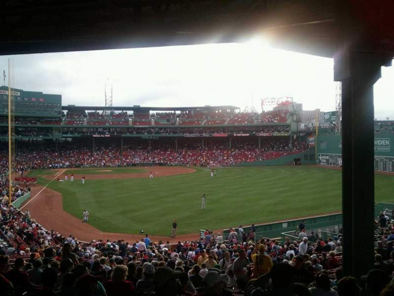 Seating view for Fenway Park Section Grandstand 3 Row 11 Seat 8