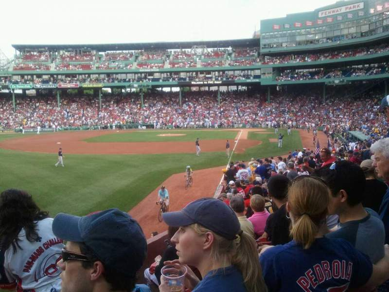 Seating view for Fenway Park Section 33-B165 Row Nn Seat 8