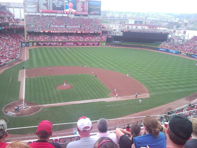 Seating view for Great American Ball Park Section 428 Row E Seat 15