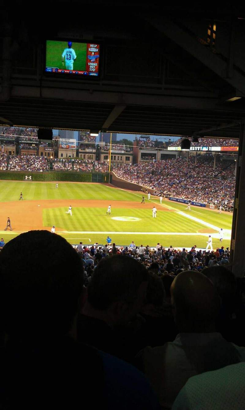 Seating view for Wrigley Field Section 212 Row 20 Seat 6