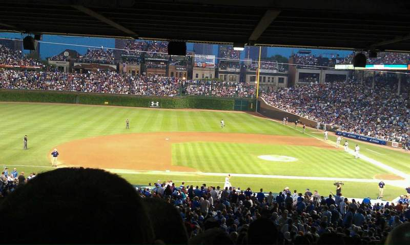 Seating view for Wrigley Field Section 213 Row 20 Seat 5