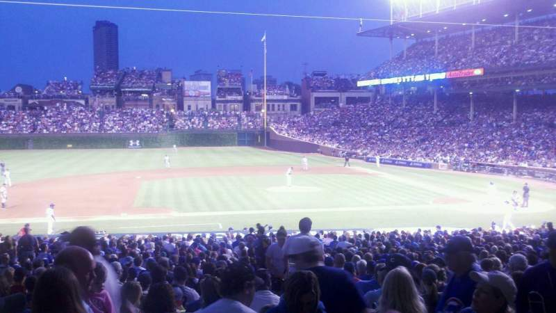 Seating view for Wrigley Field Section 213 Row 4 Seat 10