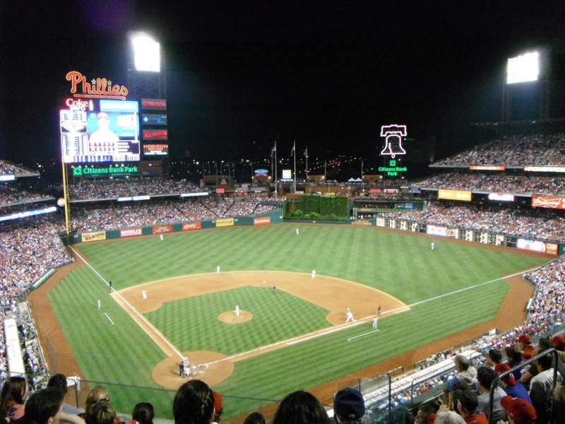 Seating view for Citizens Bank Park Section 319 Row 5 Seat 9