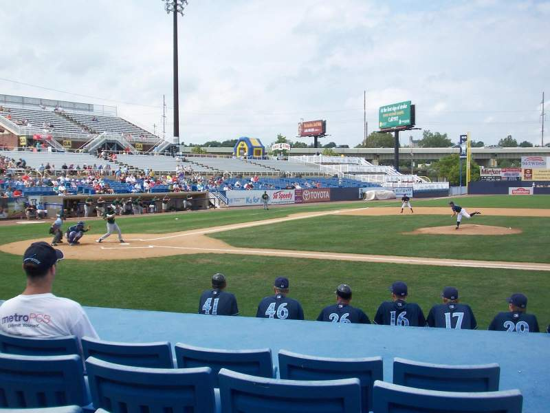 Seating view for Frawley Stadium Section 9 Row 5 Seat 1