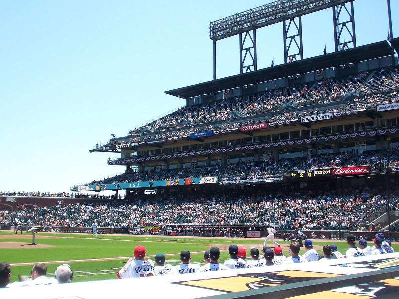 Seating view for AT&T Park Section 123 Row B
