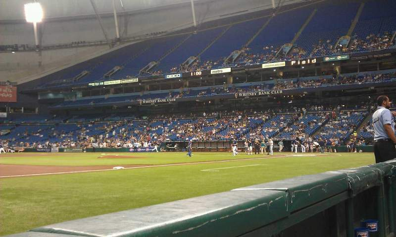 Seating view for Tropicana Field Section 119 Row b Seat 2