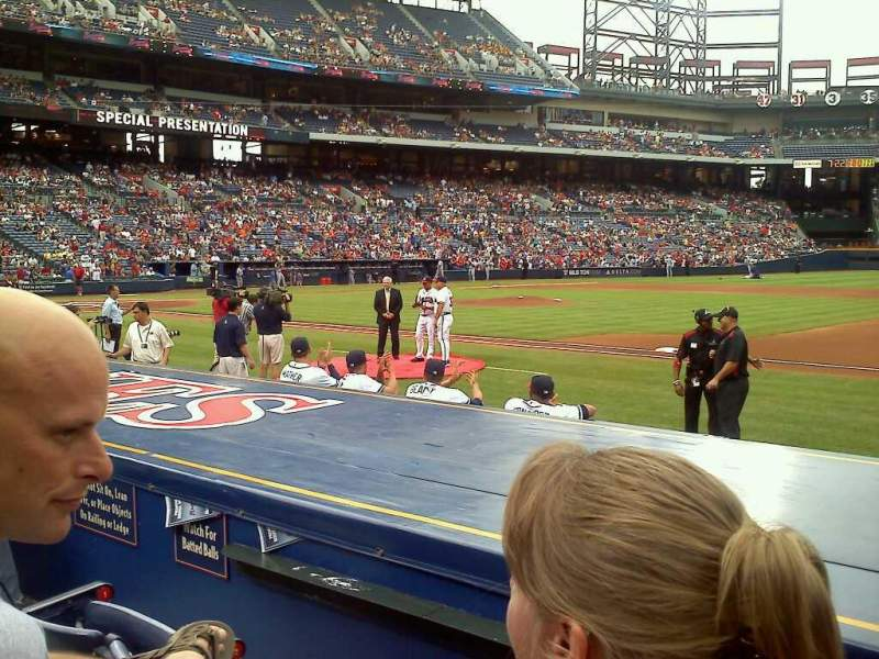 Seating view for Turner Field Section 115R Row 8 Seat 6