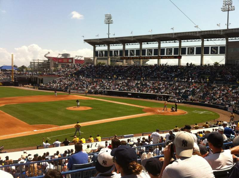 Seating view for George M. Steinbrenner Field Section 217 Row D Seat 15