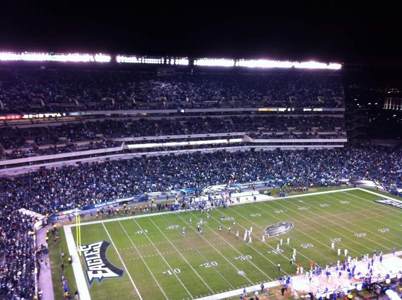 Seating view for Lincoln Financial Field Section 221 Row 19 Seat 21