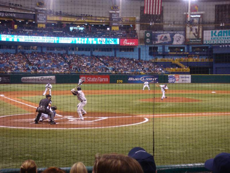 Seating view for Tropicana Field Section 108 Row J Seat 5