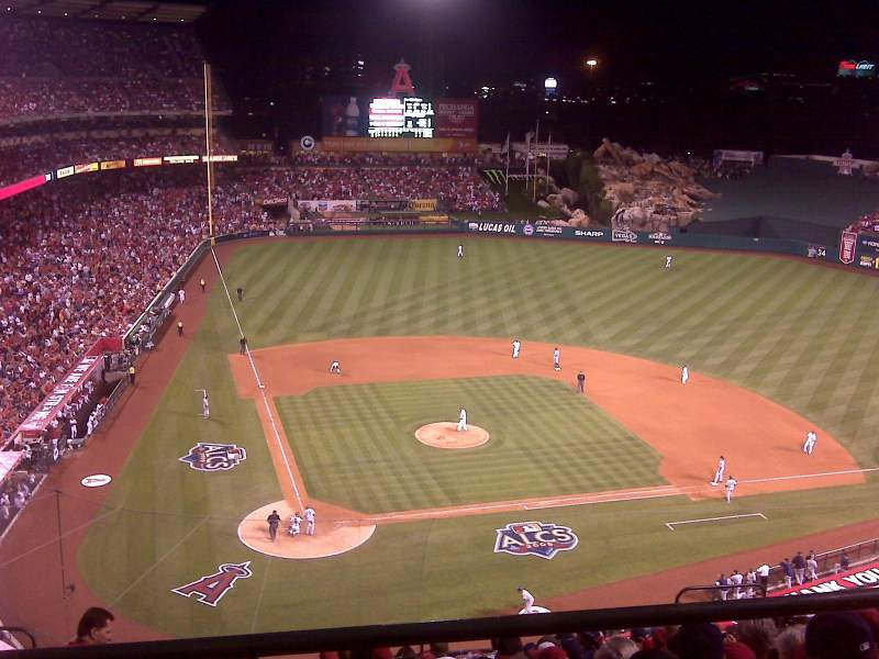 Seating view for Angel Stadium Section V524 Row A Seat A-14