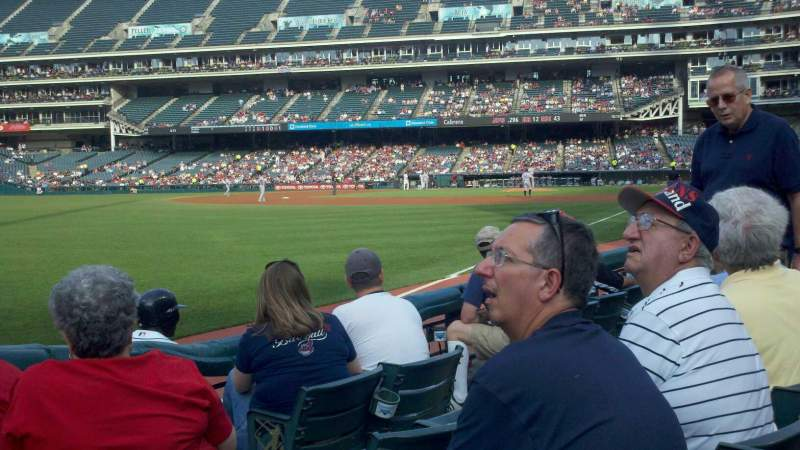 Seating view for Progressive Field Section 175 Row E Seat 5