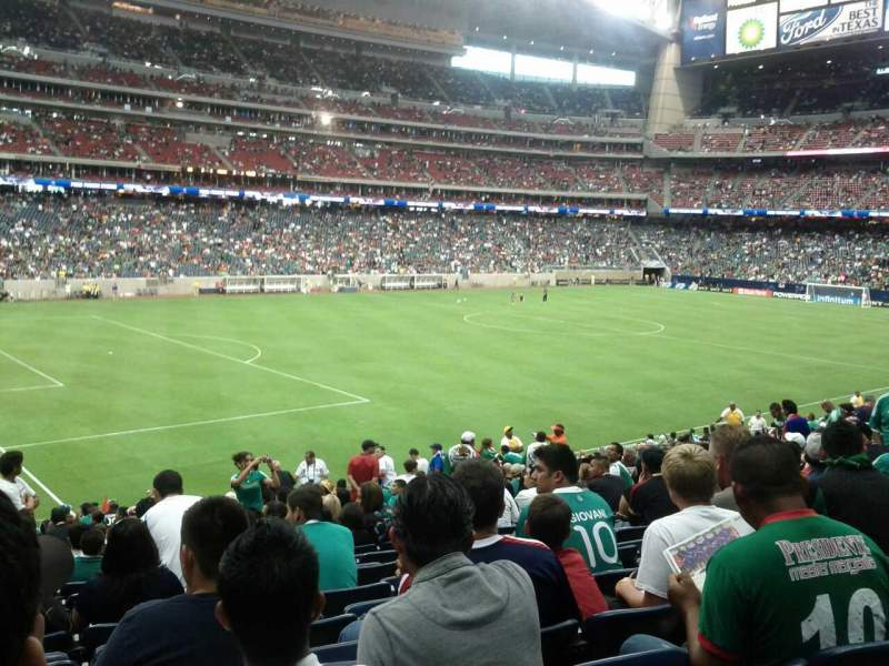 Seating view for NRG Stadium Section 131 Row AA Seat 21
