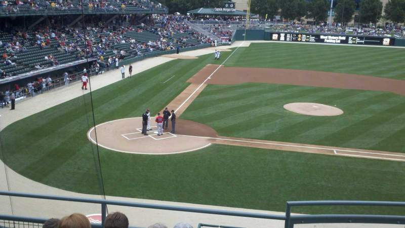 Seating view for Victory Field Section 213 Row E Seat 11
