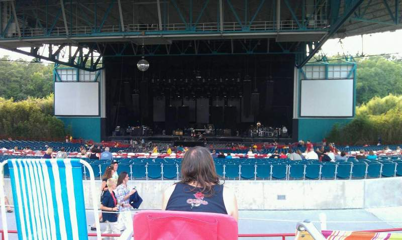 Seating view for Veterans United Home Loans Amphitheater Section lawn Row front