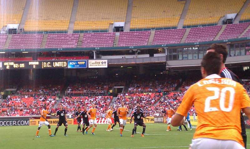 Seating view for RFK Stadium Section 129 Row 9 Seat 2