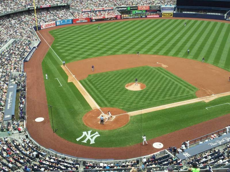 Seating view for Yankee Stadium Section 419 Row 1 Seat 15