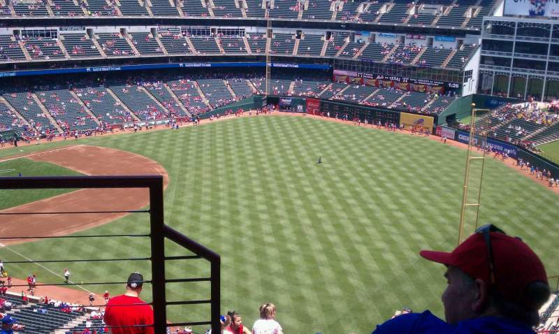 Seating view for Globe Life Park in Arlington Section 344 Row 14 Seat 6