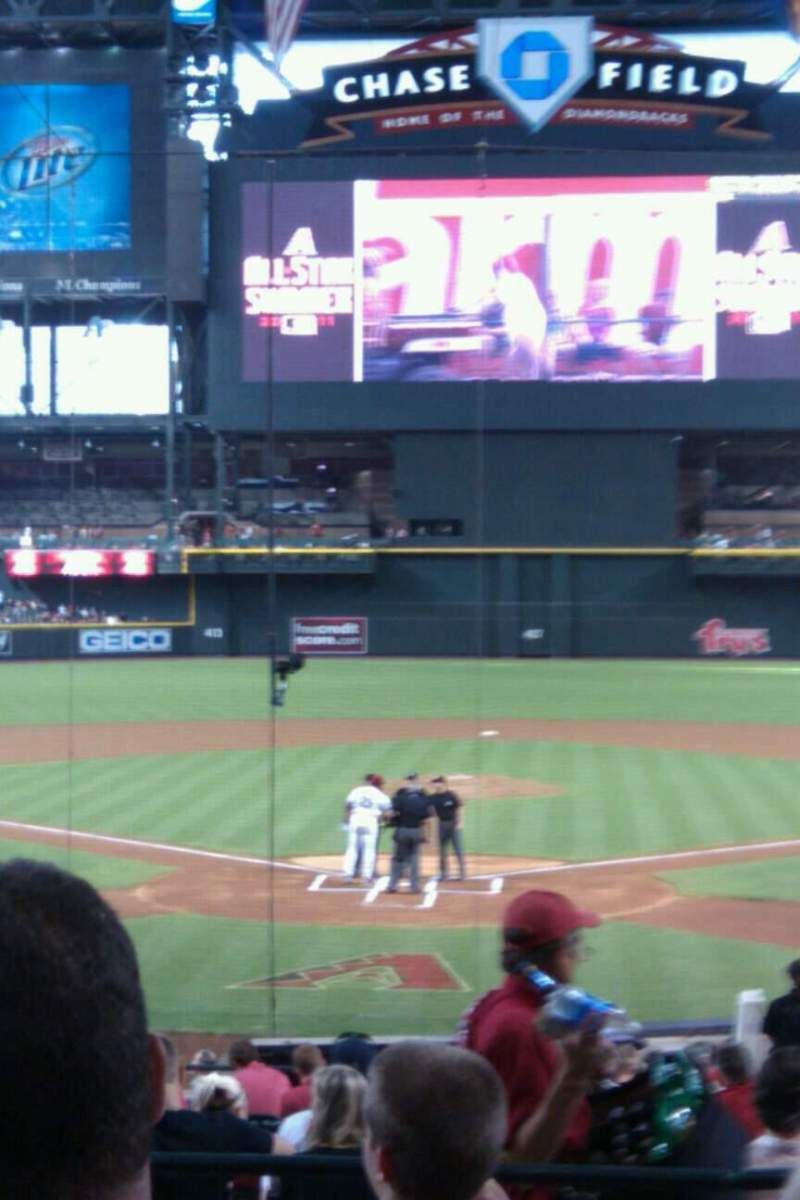 Seating view for Chase Field Section 122 Row 26 Seat 3